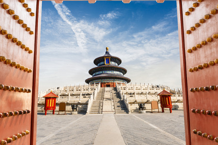 temple of heaven: The beauty of the ancient temple,Temple of Heaven in Beijing,China