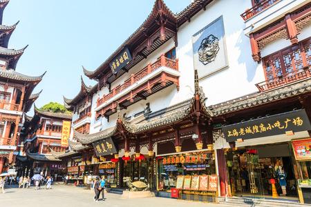 september 2: Shanghai,China - on September 2,2016:Traditional commercial street scene in Yuyuan Garden,Yuyuan Garden is a famous commercial street in Shanghai.