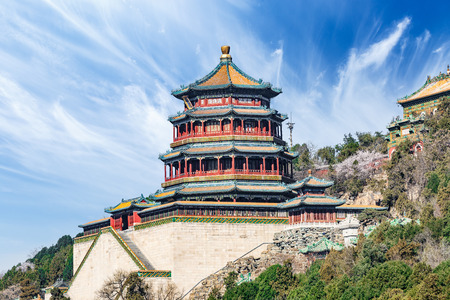summer palace: The Summer Palace landscape in Beijing,Chinese imperial garden of