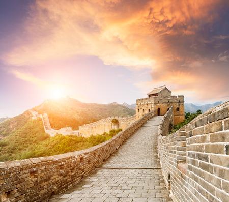 La famosa Gran Muralla China, jinshanling Foto de archivo - 62760279