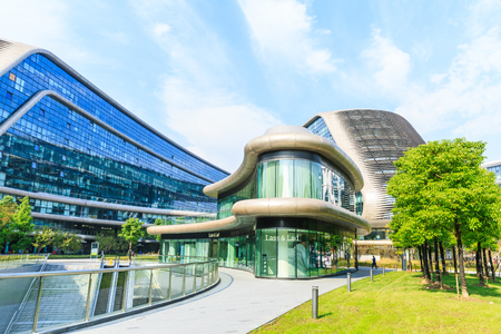 Shanghai,China,November 4,2016 - SKY SOHO building scenery,Shanghais famous new landmark building. Editorial