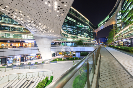 famous industries: Shanghai,China,November 4,2016 - SKY SOHO building night scenery,Shanghais famous new landmark building. Editorial