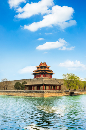 Beijing the Imperial Palace watchtower