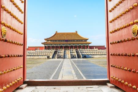 Alte königliche Paläste der Verbotenen Stadt in Peking, China Standard-Bild - 74552770