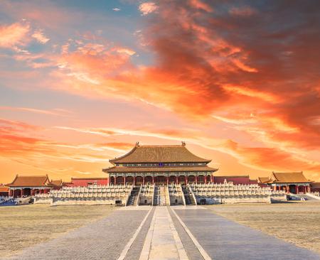 北京, 中国の禁止された都市の古代王室の宮殿