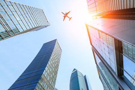 ビジネス地区のモダンな高層ビルを上海します。