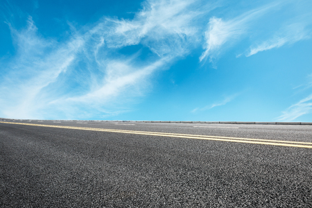 Asphalt road and sky cloud landscape