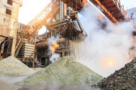 Industrial crane and equipment in steel mills