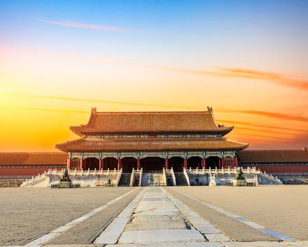 Oude koninklijke paleizen van de Verboden Stad in Peking, China