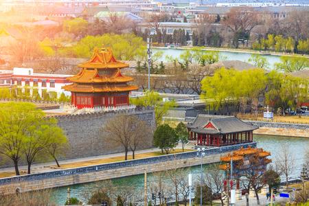 Forbidden watchtower with beijing city view