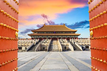 verboden stad in Peking, China Redactioneel