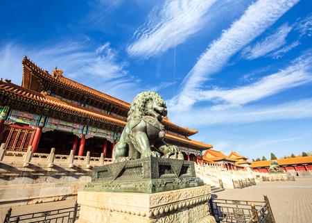 Bronze lion at the Forbidden City, Beijing