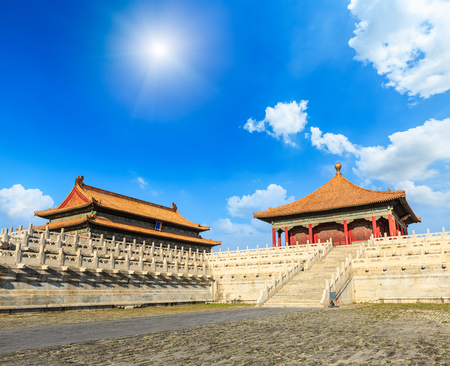 The world famous historical and cultural monument, Beijing Forbidden City, China