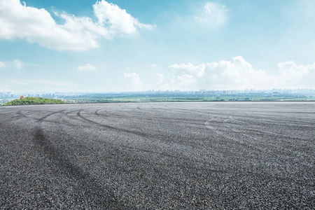 International circuit asphalt road and blue sky nature landscape 版權商用圖片