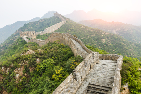 The famous Great Wall of China Archivio Fotografico