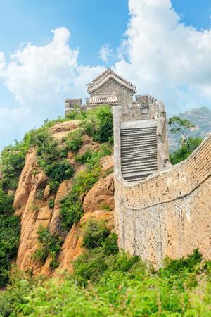 Great Wall of China at the jinshanling section Stock Photo