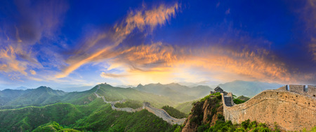 The Great Wall of China at sunrise,panoramic view Stock fotó - 105924742