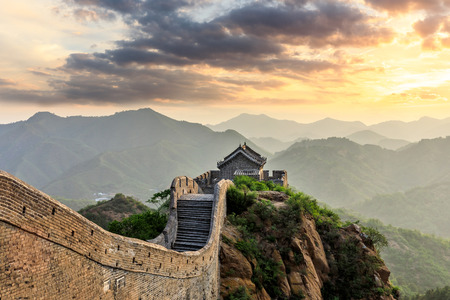 The Great Wall of China at sunset Imagens - 121999508