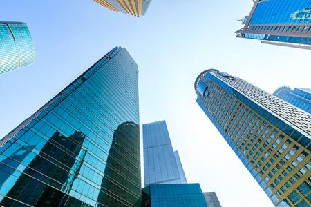 Immeuble de bureaux d'architecture contemporaine, paysage urbain à Shanghai Banque d'images