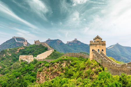 The Great Wall of China at Jinshanling 免版税图像 - 122475503