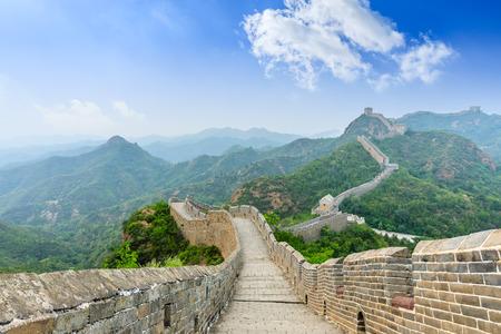 De Grote Muur van China bij Jinshanling Stockfoto