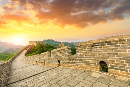 The Great Wall of China at sunset, Jinshanling