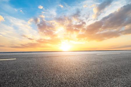 Pusta droga i krajobraz przyrody nieba Zdjęcie Seryjne