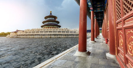 Temple of Heaven at cloudy day in Beijing,China 에디토리얼