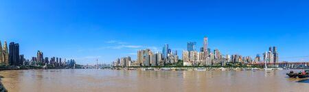 Panorama of modern city skyline in chongqing,China. 免版税图像