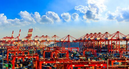 Industrial container freight port in Shanghai,China.