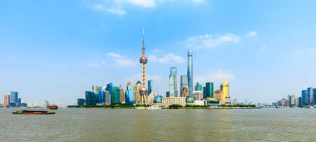 Beautiful Shanghai skyline and commercial buildings,China.