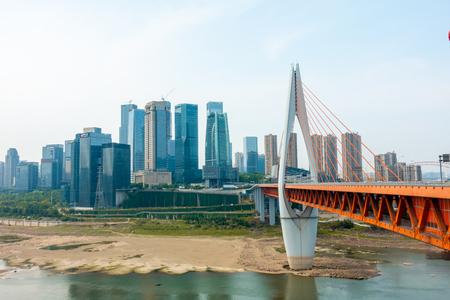 Chongqing qianshimen bridge landscape