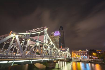 night view of tianjins bustling metropolis