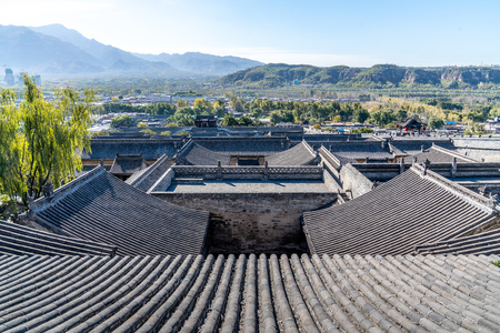 The architectural complex of the luxurious residence in ancient China