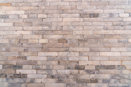The ancient city wall of neat red bricks 版權商用圖片