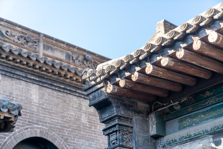 An ancient Chinese residence house eaves