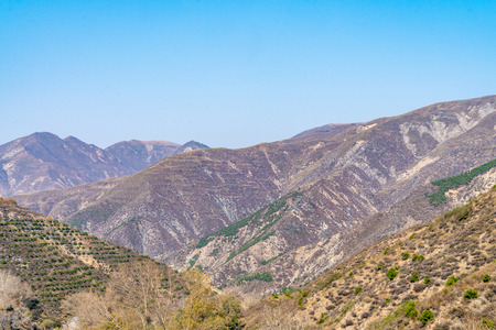 Mountain scenery near yanmen village, Shanxi Province, China