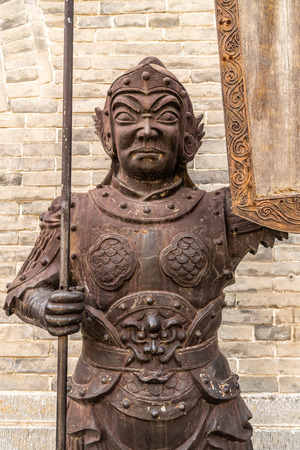 The statue in front of the gate of guodai city in China Editöryel
