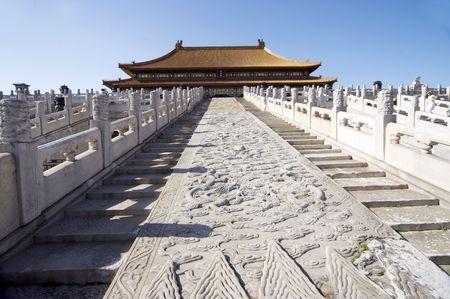 China historic buildings Beijing Forbidden city photo