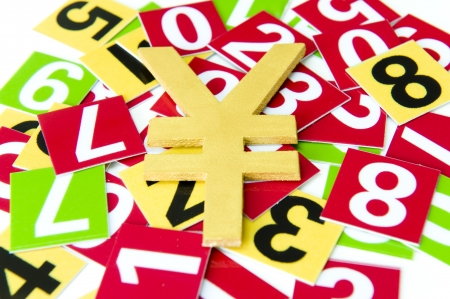Number and Currency symbol Stock Photo - 18013654