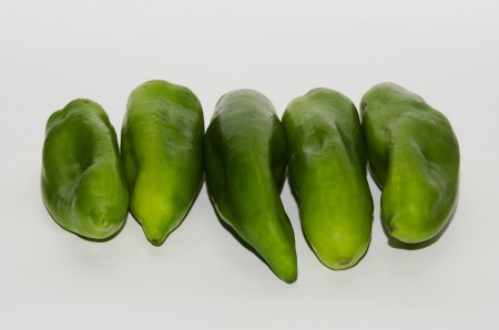 newly harvested green peppers , naturally agricultural product photo