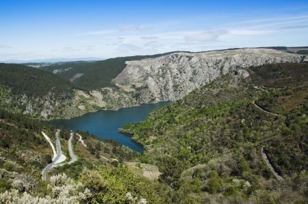 sil: The Sil river canyon in Galicia , Spain