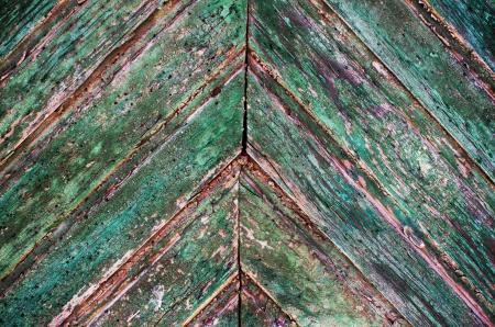 old wooden garage door photo