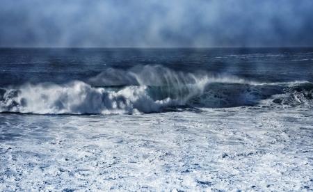 Big waves on the coast of Galicia ( Spain )