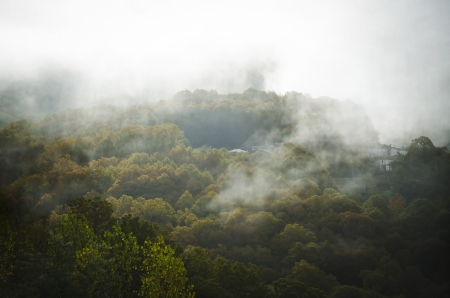 over the hill: Mountain landscape on a cloudy day  O Caurel  Galicia