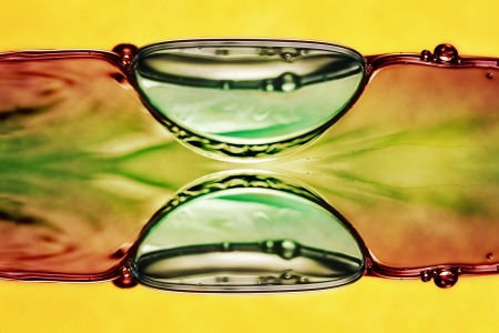 water forms, symmetrical composition  photo