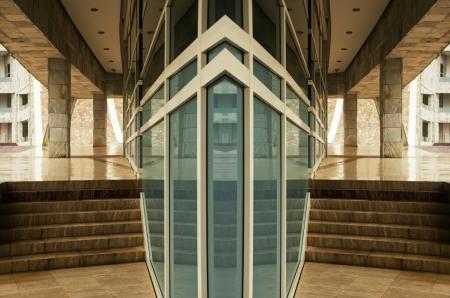 modern glass facade office building photo