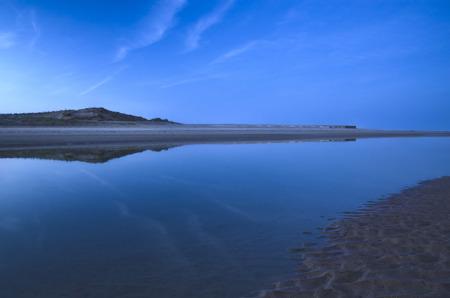 dusk on the beach Valdovino in Galicia (Spain) photo