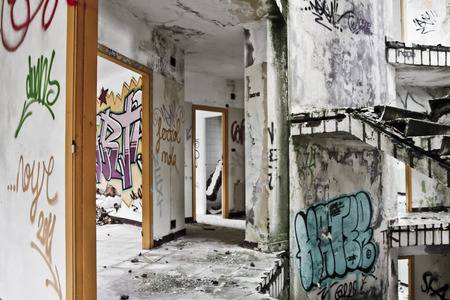 Old Abandoned school Building photo