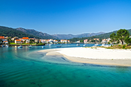 villaggio beautifull sulla costa della Galizia, Spagna Archivio Fotografico